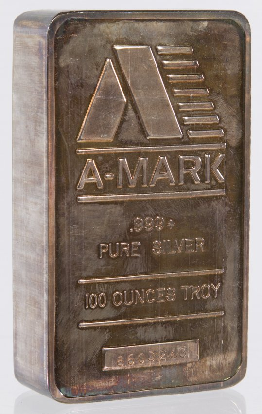A Mark 100 Troy Ounce 999 Fine Silver Bar Lot 33