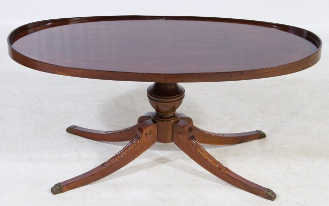 oval coffee table by mersman lot 128