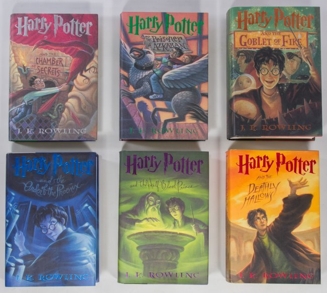 Harry Potter Book First Edition : First edition harry potter book assortment lot