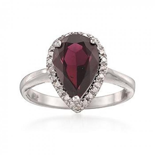 2 90 Carat Pear Shaped Garnet and Diamond Ring in Lot 164R