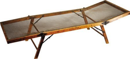 57215: Civil War Officer's Folding Wooden Camp Cot : Lot 57215