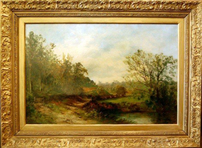 195 william wendt oil on canvas 20 x 30 frame 29 lot 195. Black Bedroom Furniture Sets. Home Design Ideas