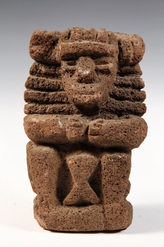 Meso american stone sculpture inca carved volcanic lot