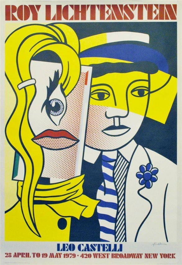 113 roy lichtenstein color silkscreen poster lot 113 for Poster roy lichtenstein