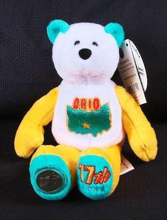 26 Ohio Beanie Baby Coin Bear Amp State Quarter Lot 26
