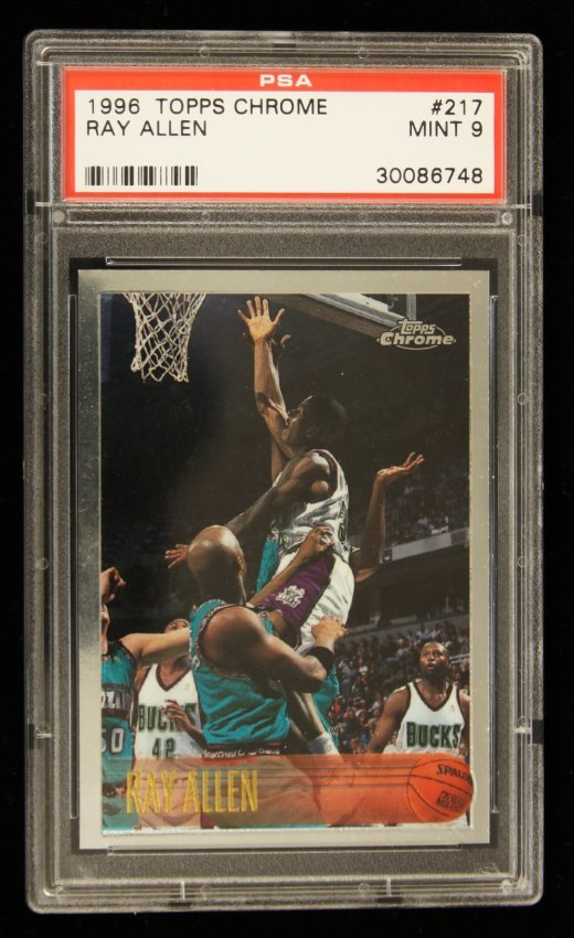 1996 topps chrome ray allen rookie card c208 lot 14