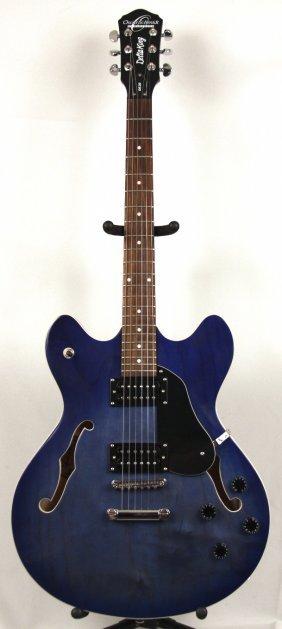 oscar schmidt washburn designed blue electric guitar dg lot 312. Black Bedroom Furniture Sets. Home Design Ideas
