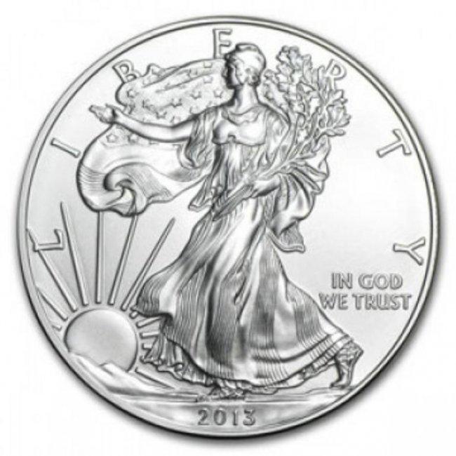 2013 American Silver Eagle Dollar Gem Bu Coin Lot 5