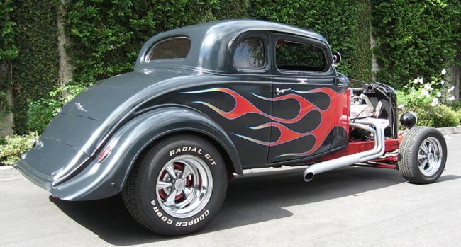 1933 chevy 5 window chopped flamed coupe lot 243 for 1933 chevrolet 5 window coupe